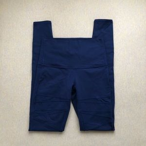 Lululemon hero blue mesh wunder under pant